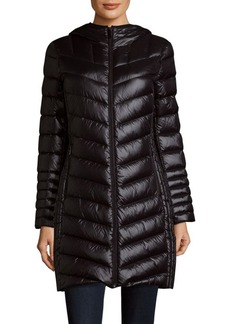 Saks Fifth Avenue Missy Packable Quilted Long Jacket
