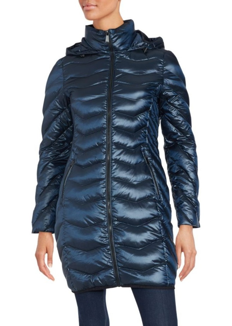 Saks Fifth Avenue Mockneck Long Sleeve Puffer Jacket
