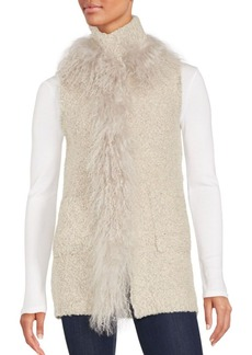 Saks Fifth Avenue Mongolian Lamb Shearling-Trimmed Vest