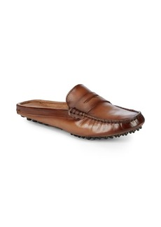 Saks Fifth Avenue Mule Driver Leather Loafers