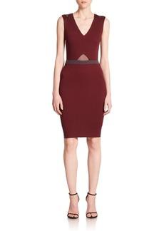 Saks Fifth Avenue Natalia Sheer-Inset Colorblock Sheath Dress