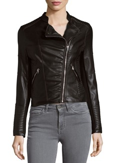 Saks Fifth Avenue Off Center Zip Moto Jacket