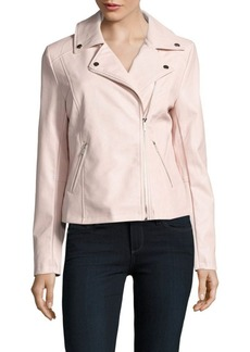 Saks Fifth Avenue Off-Center Zip Moto Jacket