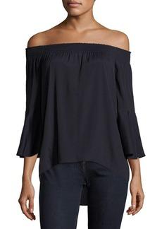 Saks Fifth Avenue BLACK Off Shoulder Blouse
