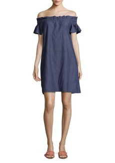 Saks Fifth Avenue Off Shoulder Cotton Dress