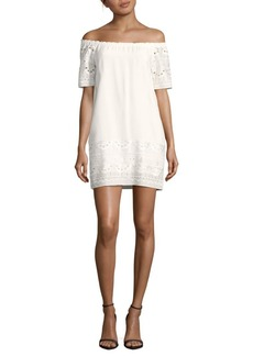 Saks Fifth Avenue Off-The-Shoulder Lace Dress