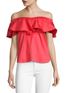 Saks Fifth Avenue Off-The-Shoulder Ruffle Top