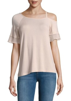 Saks Fifth Avenue One Shoulder-Sleeve Blouse