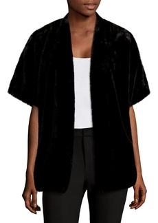 Saks Fifth Avenue Open-Front Faux Fur Sweater