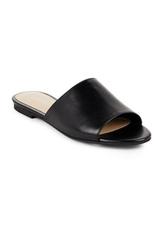Saks Fifth Avenue Open-Toe Leather Slide Sandals