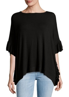 Saks Fifth Avenue Oversize Ruffle Tee Shirt