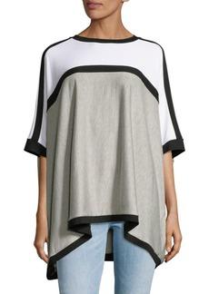 Saks Fifth Avenue Oversized Colorblock Fleece Top