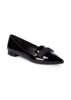 Saks Fifth Avenue Patent Grosgrain Bow Flats