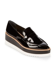 Saks Fifth Avenue Patent Leather Penny Loafers