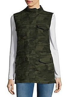 Saks Fifth Avenue Patterned Stand Collar Vest