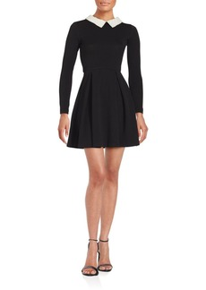 Saks Fifth Avenue Pearl Trim Dress