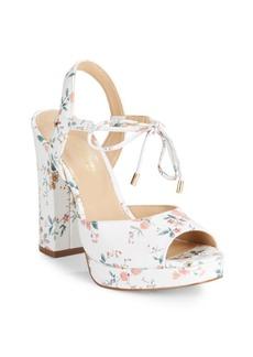 Saks Fifth Avenue Peep Toe Leather Sandals