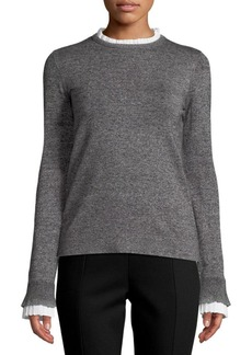Saks Fifth Avenue Pleated Crewneck Top
