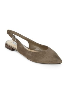 Saks Fifth Avenue Point Toe Leather Slingback Dress Flats