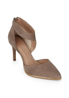 Saks Fifth Avenue Point-Toe Leather Stilettos
