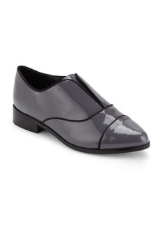 Saks Fifth Avenue Polished Cap-Toe Loafers