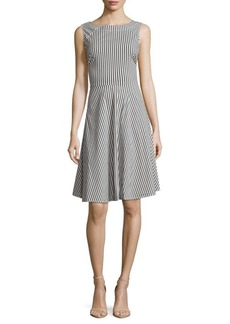Saks Fifth Avenue Popli Striped Sleeveless Dress