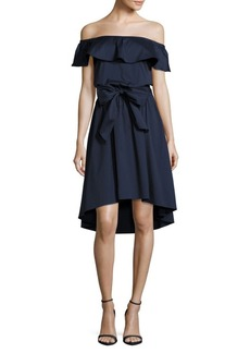 Saks Fifth Avenue BLACK Popover Off-the-Shoulder Dress