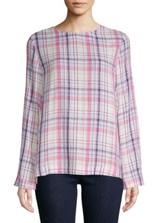 Saks Fifth Avenue Popover Plaid Top