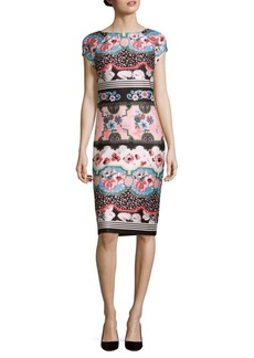 Saks Fifth Avenue Printed Bodycon Dress