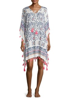 Saks Fifth Avenue BLUE Printed Cotton Caftan