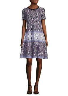 Saks Fifth Avenue Printed Shift Dress