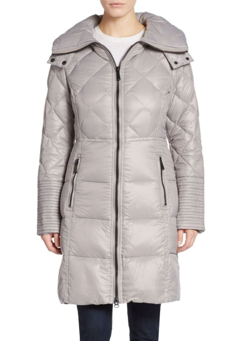 Saks Fifth Avenue Quilted Down Nylon Puffer