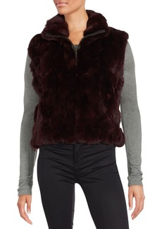 Saks Fifth Avenue Rabbit Fur Sleeveless Jacket