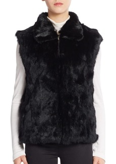 Saks Fifth Avenue Rabbit Fur Vest