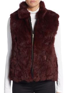 Saks Fifth Avenue Rabbit Fur Zip Vest