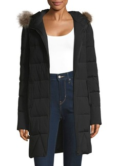 Saks Fifth Avenue Raccoon Fur Down Jacket