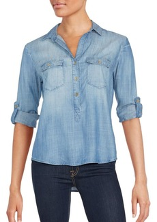 Saks Fifth Avenue RED Angelique Button-Down Jean Top