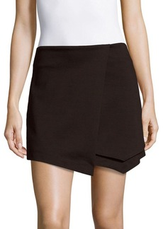 Saks Fifth Avenue RED Asymmetrical Wrap Skort