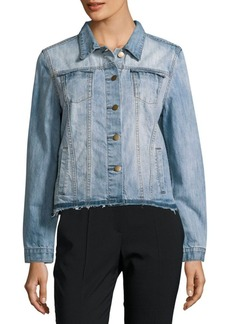 Saks Fifth Avenue RED Button-Down Denim Jacket