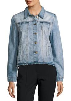Saks Fifth Avenue RED Button-Down Denim Jacket