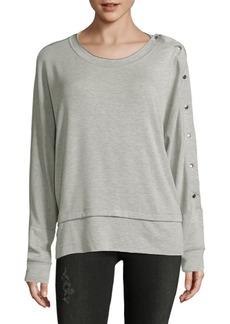 Saks Fifth Avenue Buttoned Crewneck Sweater