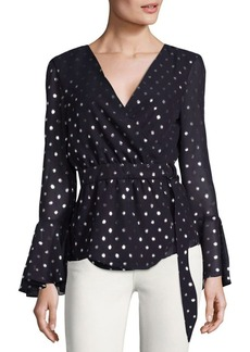 Saks Fifth Avenue RED Dotted Blouse
