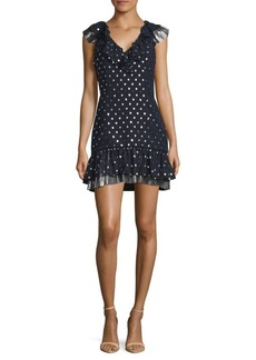 Saks Fifth Avenue RED Dotted Mini Dress