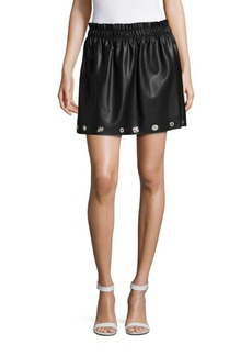 Saks Fifth Avenue RED Embellished Pull-on Ruffle Skirt