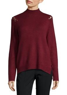 Saks Fifth Avenue Eyelet Mockneck Sweater