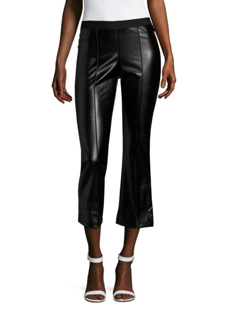 Saks Fifth Avenue RED Faux Leather Standard-Fit Pants