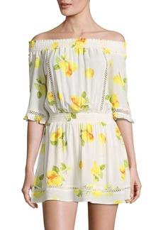Saks Fifth Avenue RED Floral Off-The-Shoulder Dress