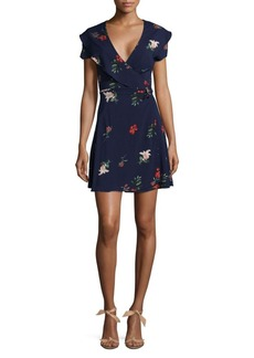 Saks Fifth Avenue RED Floral Wrap Dress