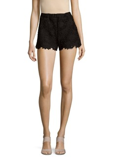 Saks Fifth Avenue RED High-Waisted Lace Shorts