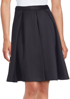 Saks Fifth Avenue RED Solid Pleated Skirt